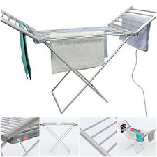 Daewoo Electric Indoor Laundry Clothes Drying Dryer Heated Airer Folding Rack
