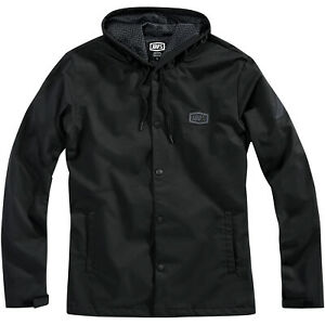 100% - Apache Hooded Snap Jacket Size: L Color/Finish: Black