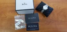 Bulova 96R124 Women's Dress 20 Diamonds Mother of Pearl Dial Stainless Watch