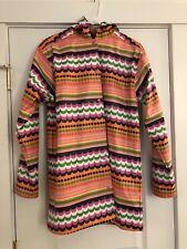 Hartstrings Girls Size 14-16 Raincoat Blue Orange Pink Jacket Hooded Snap Front