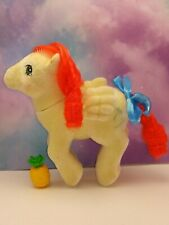 My Little Pony Vintage G1 So Soft Flocked ~ Paradise~ Palm Trees Tropical~ Cute!