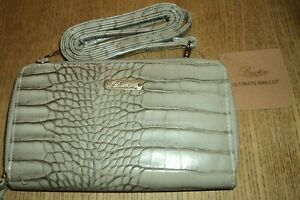 BUXTON GRAY ULTIMATE WALLET - WITH SHOULDER STRAP - NEW WITH TAGS