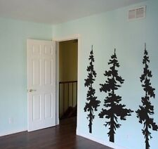 Vinyl Wall Decal Sticker Forest Trees Combo 6 ft tall