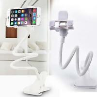 Universal Lazy Mobile Phone Clip Holder Desk Bed Stand Bracket 360 Rotating AV