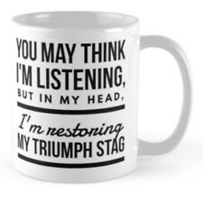 Triumph Stag mug Gift for someone restoring an unfinished project restoration