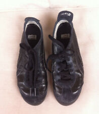 ASICS ONITSUKA TIGER BLACK LEATHER TRAINERS SIZE: 4.5 US GC