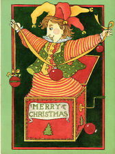 Vintage Christmas Card: JACK-IN-THE-BOX