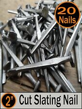 "(20) 2"" - CUT SLATING NAILS  - Vintage Antique - 6d"