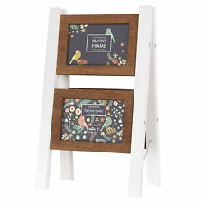 Innova Editions Casa Vintage White Ladder Multi Aperture Picture Photo Frame New