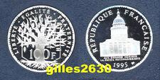 FDC : Splendide 100 francs PANTHEON argent 1995 BE neuve