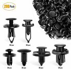200 Pcs Push Bumper Fastener Rivet Clips with 6 Size Auto Body Retainer Clips