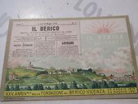 Tarjeta Postal Época 25°Aniversario Fundación el Berico Vicenza Nuevo Primeros