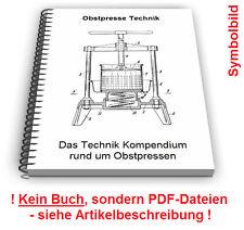 Obstpresse selbst bauen - hydraulische Obst Presse Technik Patente