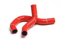 M2 MOTORSPORT RED SILICONE RADIATOR TOP & BOTTOM HOSES HONDA CIVIC EP3 K20 Y3226