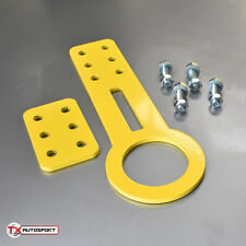 Angled JDM Honda Civic Type-R Mazda Mitsubishi Universal Tow Hook Eye - Yellow