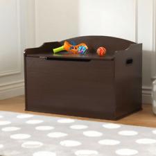NEW KidKraft Austin Toy Box Espresso Kids Bedroom Decor Playroom Storage 14956