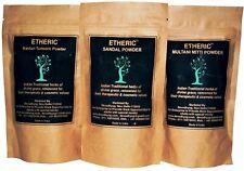 Etheric Combo Pack for Glowing Skin(Sandal+Kasturi Turmeric+Multani Mitti) pure