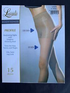 LEVANTE Bodytoning Tights Hips Tummy Silky Satin Brief Pantyhose Sz 4 XTALL NWT