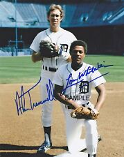 ALAN TRAMMELL & LOU WHITAKER SIGNED 1984 DETROIT TIGERS 8x10 REPRINT PHOTO RP
