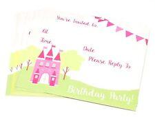 16x BAMBINI BIMBI Inviti festa di compleanno Confezione imbottito VUOTI GIRL