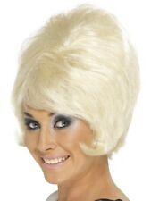 Blonde 1960's Groovy Beehive Wig Adult Womens Smiffys Fancy Dress Costume