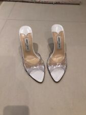 Jimmy Choo Mother Of Pearl Wedges Shoes Wedding Bridal Races UK Size 6 EU 39