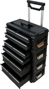 Metall Werkzeugtrolley B4-B BLACK EDITION mit Schubladenverriegelung und Schloss