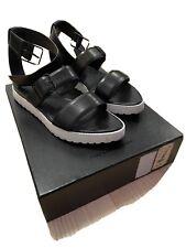 "ALEXANDER WANG - ""KIRA"" Strappy Flat Size 40 (Black/White) Gladiator Sandal"