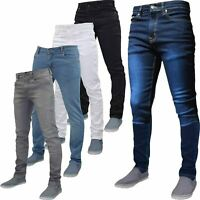 New G72 Mens Flex Skinny Jeans Stretch Slim Fit Denim Pants All Waist & Length