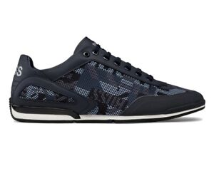 Hugo Boss Saturn Lowp Nypr 50445693 405 Mens Trainers Blue Sneakers Shoes