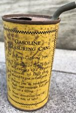 1900's Household Gasoline Burning Iron Tin Pour Measuring Can Instant Lighting
