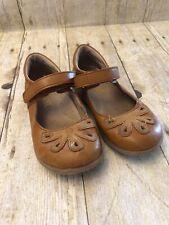 Angel Petal Shoe Brown/Tan Leather Size 10 Toddler Girls
