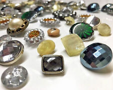 120pcs Assorted Gem Stone Crystal Beads Arts & Craft Sewing Buttons Knitting NEW