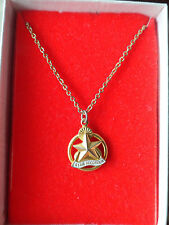 Vintage STAR RECORDER Gold Pendant Necklace