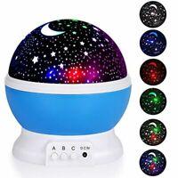 Sleeping Desk Lamps Kids Bedroom Stars Projector Table Night Lights Home Decors