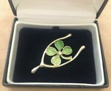 DOUBLE LUCK! GERRY'S SIGNED SHAMROCK & WISHBONE VINTAGE BROOCH