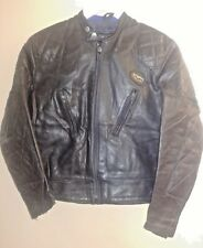 Lewis Leather Original 70s 100% Leather Biker Cafe Racer style Jacket size 38""