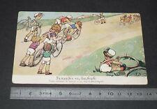 CPA CARTE POSTALE CYCLISME VELO ANNEES 1930 LA MONTEE EN DANSEUSE