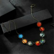 Universe Galaxy the Eight Planets in Solar System Natural Stone Beads Necklace
