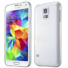 Clear Soft Silicone Rubber Protective Case Cover f Samsung Galaxy S5 G