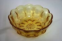 RETRO AMBER COLOURED DESSERT BOWL - EXCELLENT CONDITION