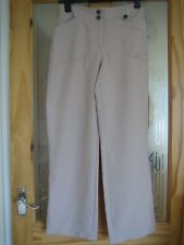 NEW BHS STONE SUMMER WEIGHT TROUSERS - SIZE 8