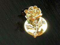 Vintage Collectible Rose Flower Metal Pinback Lapel Pin Hat Pin