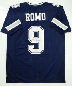 Tony Romo Autographed Blue Pro Style Jersey - Beckett W Auth *Black