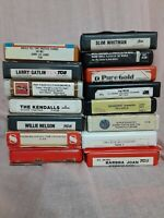 15. 8 track tapes lot