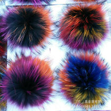 1PCS Real Raccoon Fur Colorful Pom Pom Ball for Mobile Strap Bag #94022