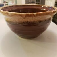 "9"" Brown Drip USA Ovenware Graduated Bowl and McCoy Mug and cereal , soup bowl"