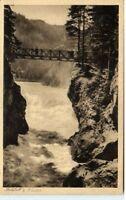 1934 Stempel Pfronten Steinach a/ AK Bechfall Waterfall River Falls Wasserfall