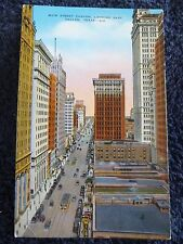1943 The Main Street Canyon, Looking East in Dallas, Tx Texas PC