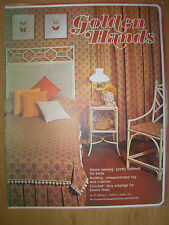 GOLDEN HANDS CRAFT MAGAZINE No 20 CROCHET LADIES SUIT - SEWING PRETTY BED SPREAD